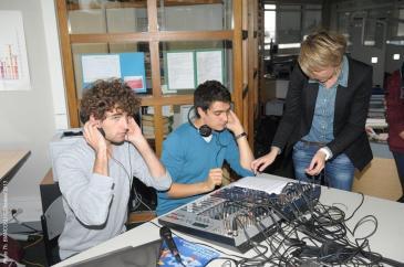 Les élèves à la technique